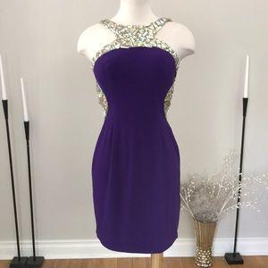 Val Stefani purple gemstone dress NWOT